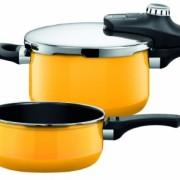 Silit-1010173311-Pentola-a-pressione-Sicomatic-econtrol-duo-45-e-3-litri-colore-Giallo-vivace-0
