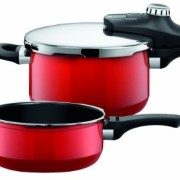 Silit-Sicomatic-1010174811-Pentola-a-pressione-econtrol-duo-45-e-3-litri-colore-Rosso-acceso-0