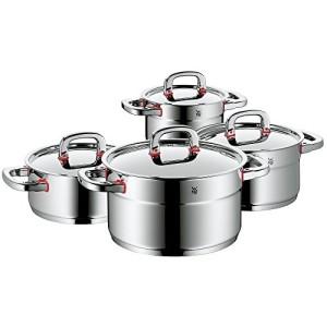 WMF-Premium-One-1788046040-Set-4-Pentole-1-Pentola-bassa-con-coperchio-da-20-cm-e-3-Pentole-alte-con-coperchio-da-162024-cm-0